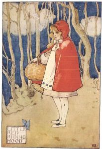 Red Riding Hood's real name is never revealed in Grimm's version of the tale. She is defined entirely by her clothes.