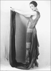Woman-modeling-Paul-Poiret-evening-dress