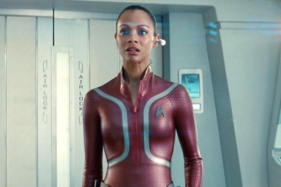 Uhura's wetsuit in Star Tre: Into Darkness may closely resemble the future of clothing, moulded and skin-tight.