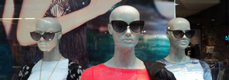 Generic, anonymous mannequins on the highstreet.