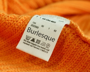 size label burlesque