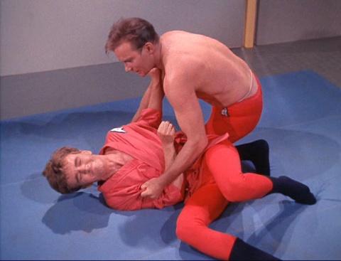 Kirk wrestles