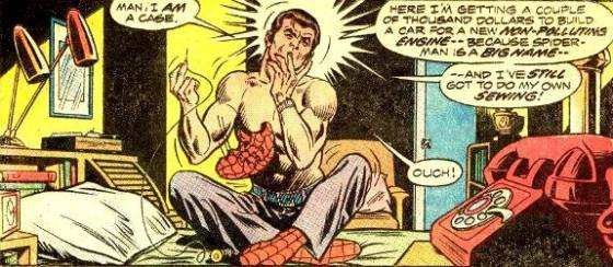 I don't know the origin of this panel - I assume it is from an issue of amazing Spider-Man. Please let me know if you are able to identify it!