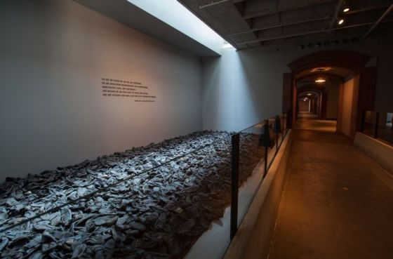 "US Holocaust Memorial Museum - ""Visitors frequently report that the sight and smell of the 4,000 victim shoes is the most searing memory from their time in the Permanent Exhibition."""
