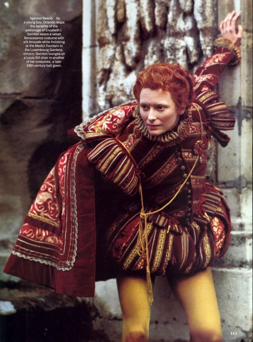 Tilda Swinton as Orlando.