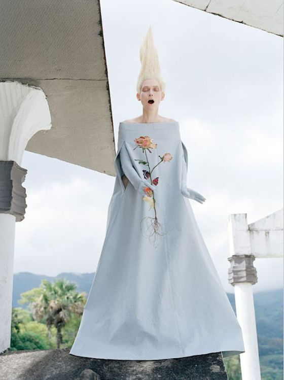 Tilda Swinton photographed by Tim Walker for W Magazine.